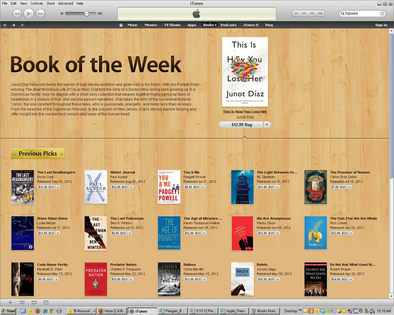 TOP BOOKS THIS WEEK ITUNES